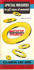 Old washer catalog: brochure of special washers in all types of materials